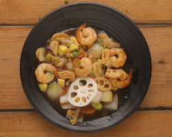 Shrimp with Ginger & Garlic